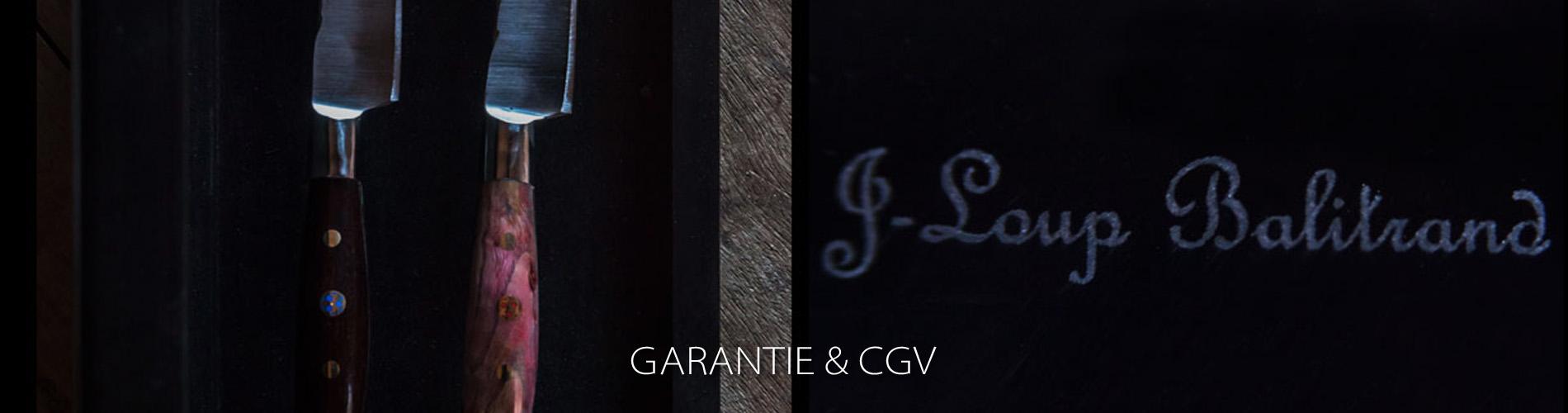 Conditions générales de vente et garantie